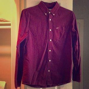 Hollister burgundy dress shirt